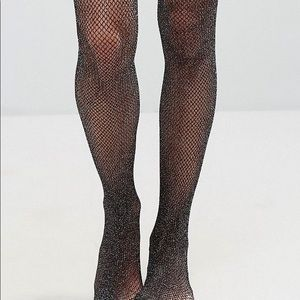 636ad39a28c Accessories - Festive Shimmery Plus Size tiny Fishnet Stockings